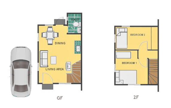 Mika Floor Plan House and Lot in Imus