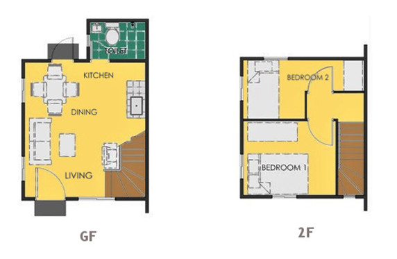Ravena Floor Plan House and Lot in Imus