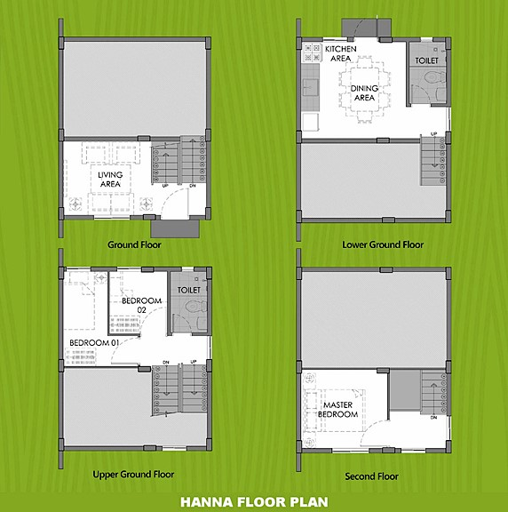 Hanna Floor Plan House and Lot in Imus