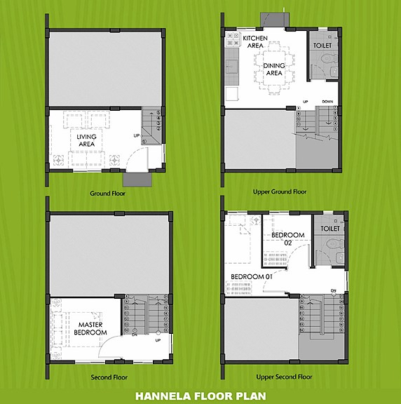 Hannela Floor Plan House and Lot in Imus