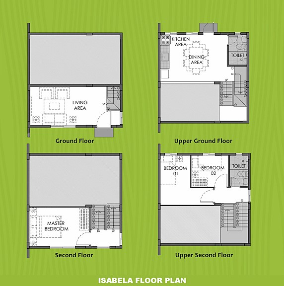 Isabela Floor Plan House and Lot in Imus