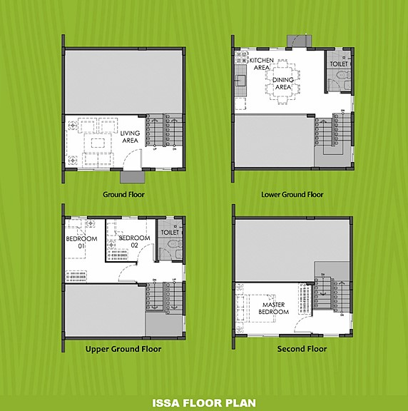 Issa Floor Plan House and Lot in Imus