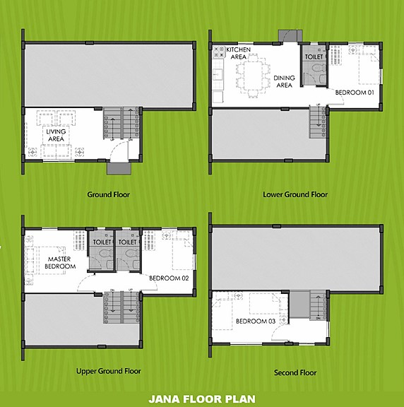 Janna Floor Plan House and Lot in Imus