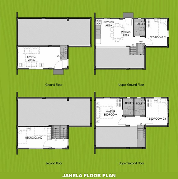 Janela Floor Plan House and Lot in Imus