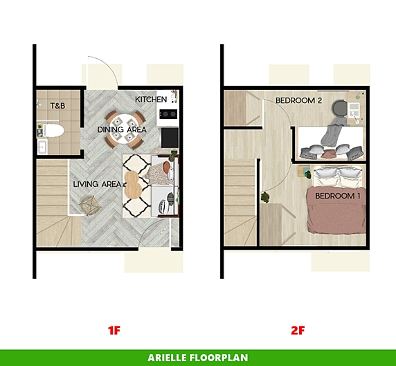 Arielle Floor Plan House and Lot in Imus