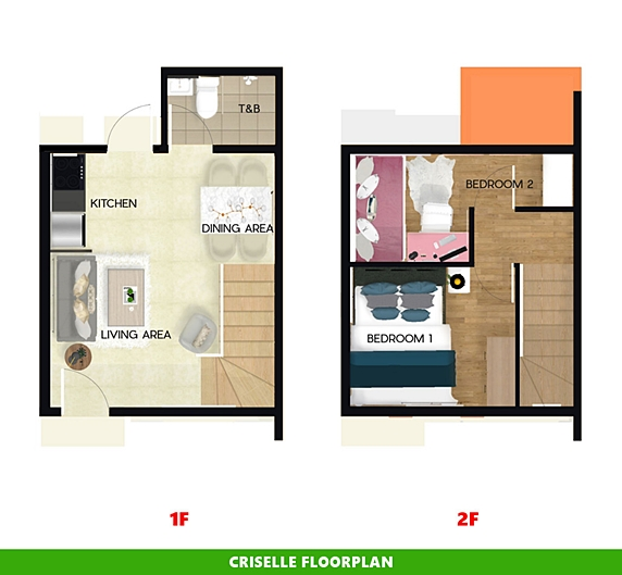 Criselle Floor Plan House and Lot in Imus