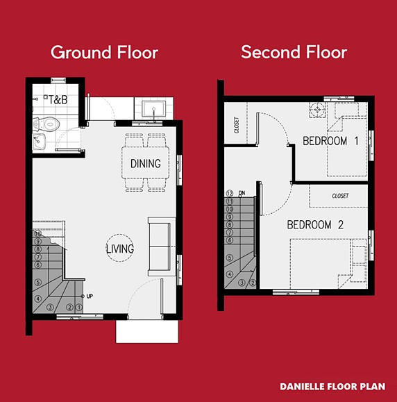 Danielle Floor Plan House and Lot in Imus