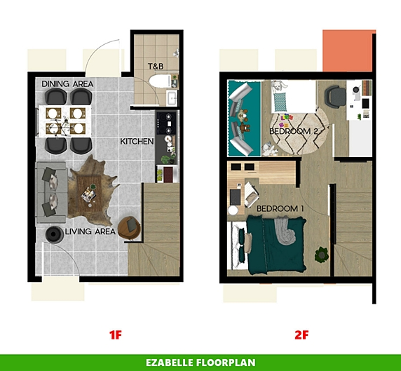 Ezabelle Floor Plan House and Lot in Imus