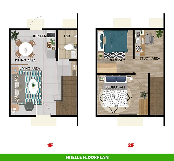 Frielle Floor Plan House and Lot in Imus